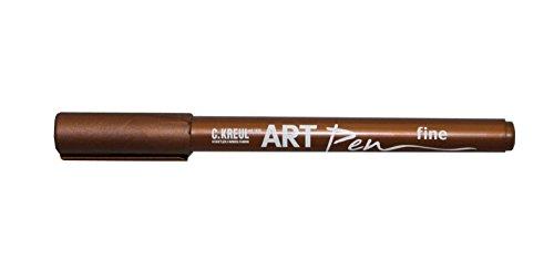 Kreul 47954 - Art Pen fine, kupfer, Strichstärke 1 - 2 mm, für Beschriftungen und Verzierungen von Geschenken, Karten, Einladungen, Tischkarten und vieles mehr