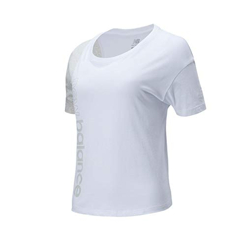 New Balance Athletics Short Sleeve - Camiseta blanca para mujer WT01506WT