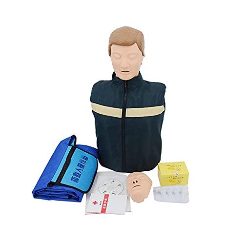 GoodWell Ganzkörper Herz-Lungen-Wiederbelebungssimulator Erste Hilfe Kardiopulmonale Reanimation Simulator, CPR Trainingspuppe für Krankenhaus Pädagogische Schule