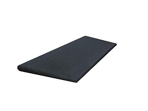 Türschwellenrampe Excellent 750/25 mm hoch aus Recycling-Gummigranulat (schwarz)