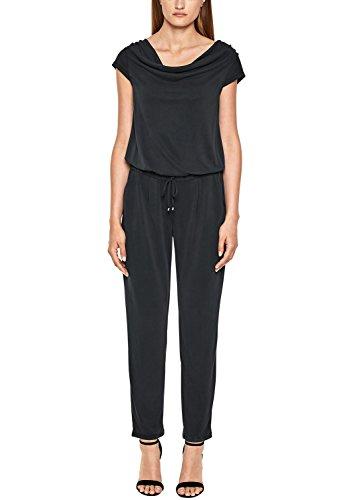 s.Oliver BLACK LABEL Damen 11.806.85.5509 Jumpsuit, Schwarz (Summer Black 9999), 36