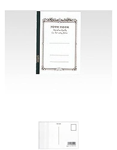 アピカ CDノート CD11WN A5 白 【× 2 冊 】 + 画材屋ドットコム ポストカードA