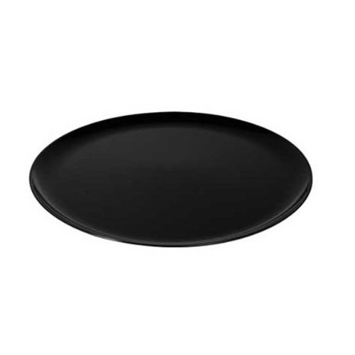 Fineline settings 8401-BK 14-Inch Platter Pleasers Black Round Plastic Trays with Clear Dome PET Lids Bakery Containers Disposable Display Dish 25-Piece Case