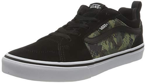 Vans Filmore Suede, Sneaker, (Mixed Camo) Black/White, 37 EU