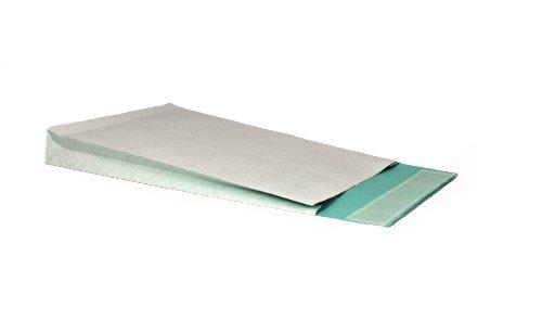 Faltentasche mit Klotzboden C4 (324x229x40mm) haftklebend fadenverstärkt weiß/blau 130g  125 Stück