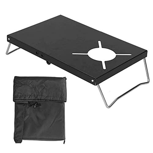Surebuy Mesa de la Estufa Que acampa, Escritorio de la Estufa Que acampa fácil de Llevar Funcionamiento Estable a Prueba de Viento para Caminar(Black)