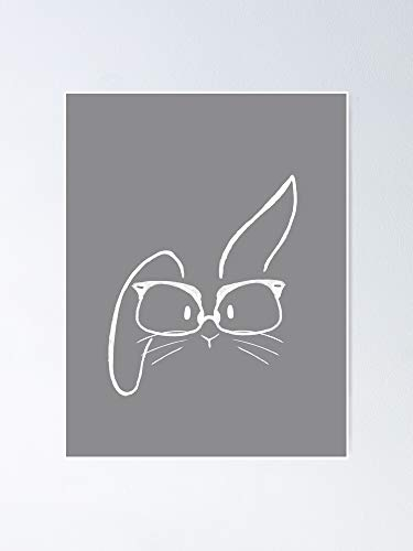Glasses Bunnies - Bookworm Poster for Quote Print, Affordable Wall Art Printable, Gallery Wall, Family, Friends, Brother, Sister, Kids.