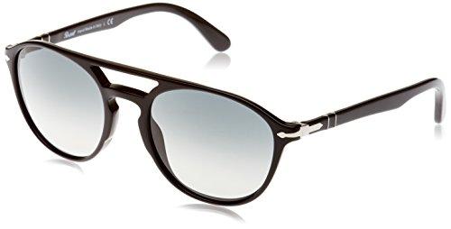Persol Herren 0Po3170S 901471 55 Sonnenbrille, Schwarz (Black/Lightgreygradientdarkgrey)