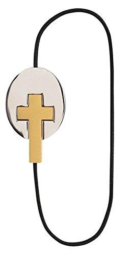 Artisan Bookmarks - Kreuz | Cross: Elastisches Leseband mit Metallschließe