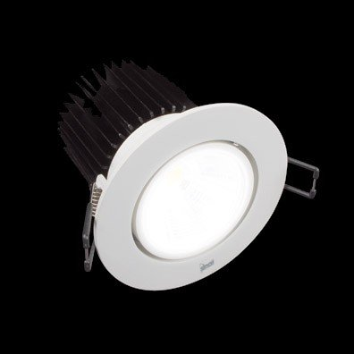 Downlight blanco Wide Flood 705.23 luz neutra de simon 15.5W