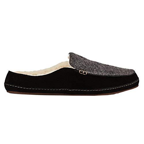OLUKAI Women's Alaula Shoes, Fog/Black, Size 6.0