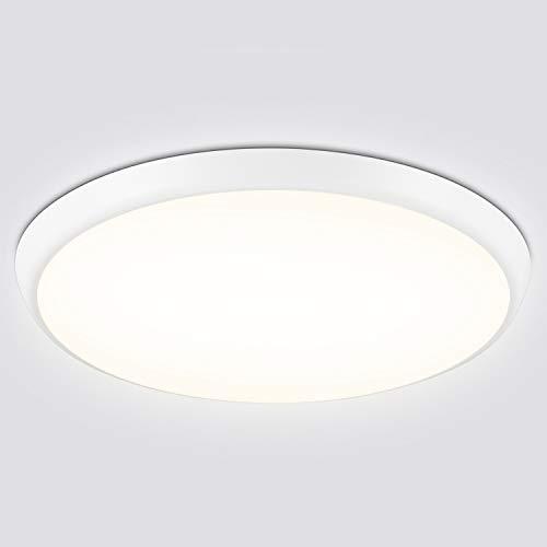 LED Deckenleuchte Bad, 18W 2000Lm LED Badlampe, Oeegoo IP54 led Deckenlampe Für Wohnzimmer, Schlafzimmer, Kinderzimmer, Flur, Badezimmer, Keller, Shop, Büro, 4000K