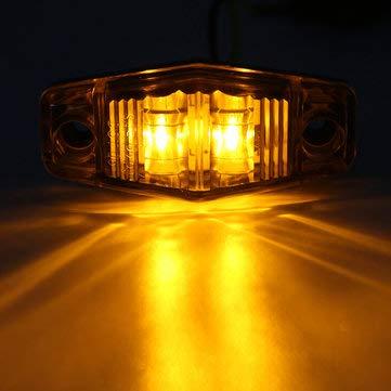 C-FUNN LED Side Marker Lights Indicator lampen 10 – 30 V Amber/Red/White 1 stuk voor auto truck trailer (alleen in het Engels) Barnsteen