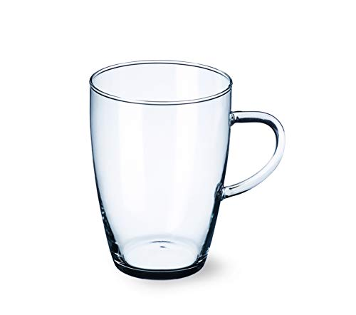 Simax Clear Glass Mugs - Elegantly Thin – Cold, Heat, and Shock Resistant Borosilicate Glass
