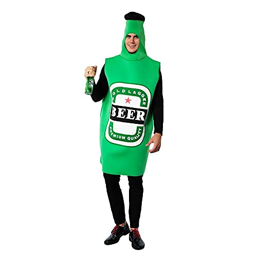 Dan&Dre Disfraz de cerveza para hombre, jarra de cerveza, mono de Oktoberfest, disfraz de Halloween, disfraz divertido para adultos, jarra de cerveza siamesa, disfraz de mueca