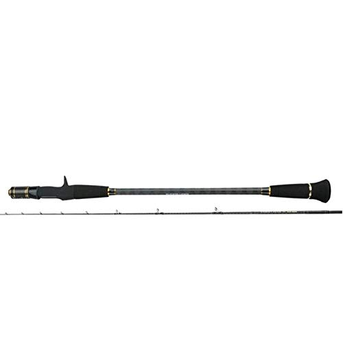 Qaoping Beachcaster Pesca Rods Slow Jigging caña de Pescar 1.83m 2 Secciones Lure Peso 30-300g Pesca de la Fibra de Carbono Ultralight de Reparto de Giro Rod-1.8m para Adultos (Size : 1.8m)