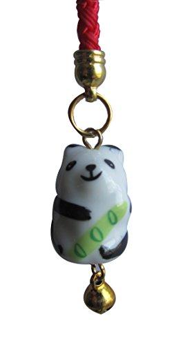Superbe Souvenir en porcelaine Fine de Chine Motif Panda Mini Phone Charm