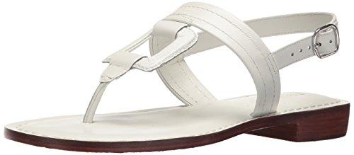 Bernardo Women's Tegan Flat Sandal, White Antique Calf, 5M M US