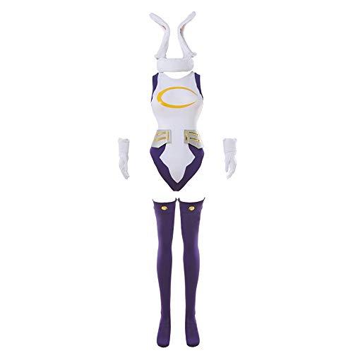 NUOQI Miruko Cosplay My Hero Academia MHA Rabbit Hero Mirko Cosplay Bunny Costume Bodysuit Bunny Hero Suit S/M