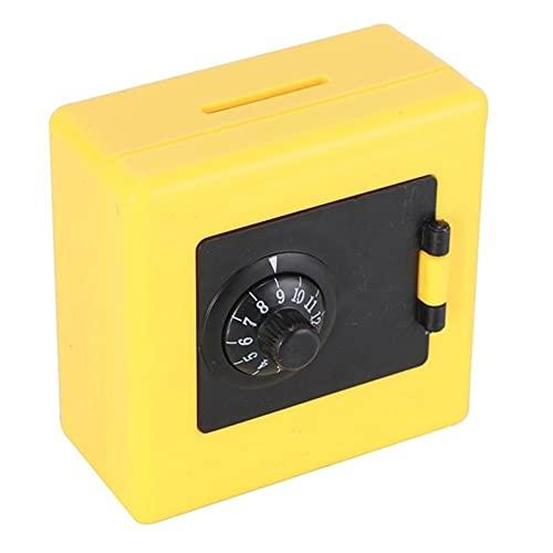 CHENSHJI Tarro de Dinero del Banco de Monedas Moneda Dinero Ahorro Caja de Almacenamiento Caja Caja Fuerte Hucha niños Dinero Cajas (Color : Yellow, Size : One Size)