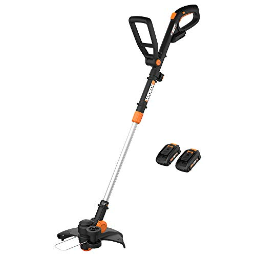 WORX WG170 GT Revolution 20V 12 Inch Grass Trimmer/Edger/Mini-Mower 2 Batteries & Charger Included, Black and Orange