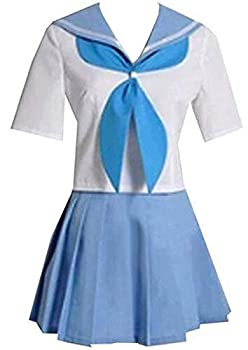 Poetic Walk Anime Kill la Kill Mankanshoku Mako Seifuku Cosplay Costume Sailor Dress Custom  Womens-S Blue Set