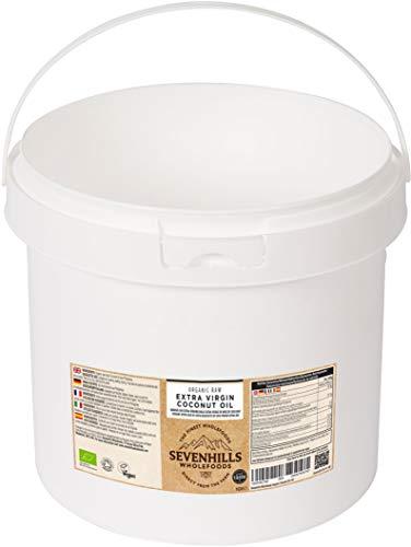 Sevenhills Wholefoods Crudo Vergine Extra Olio Di Cocco Bio, Spremuto A Freddo 500ml (vasca di plastica)
