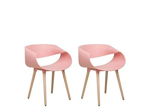 Set di 2 sedie da Pranzo Color Rosa Charlotte