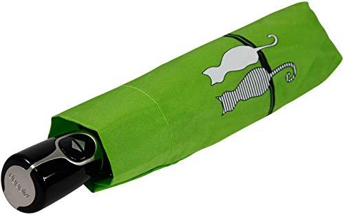 Doppler Taschenschirm Fiber Magic Cat´s Family - Grün