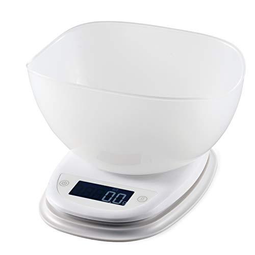 エレコム キッチンスケール ボウル付 最大2kg 最小0.1g表示 ホワイト HCS-KS02WH