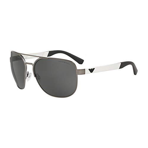 Emporio Armani 0Ea2064 Gafas de Sol, Matte Gunmetal, 62 para Hombre
