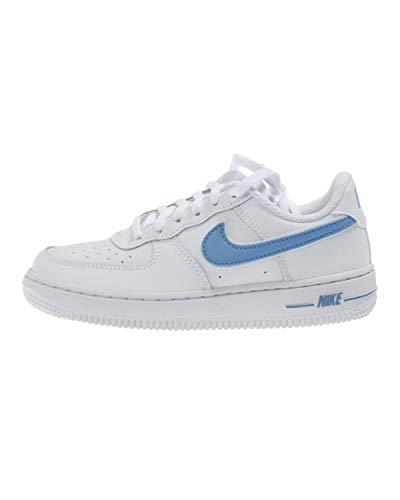 Nike Jungen Force 1-3 (ps) Basketballschuhe, Mehrfarbig (White/University Blue 102), 31 EU