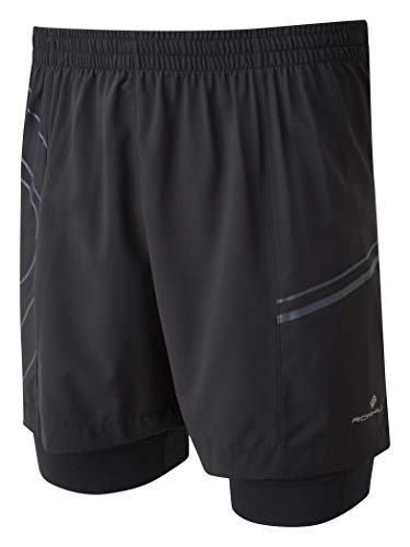 Ronhill Men's Infinity Marathon Twin Short - Pantalón Short con Malla y Multibolsillos Hombre