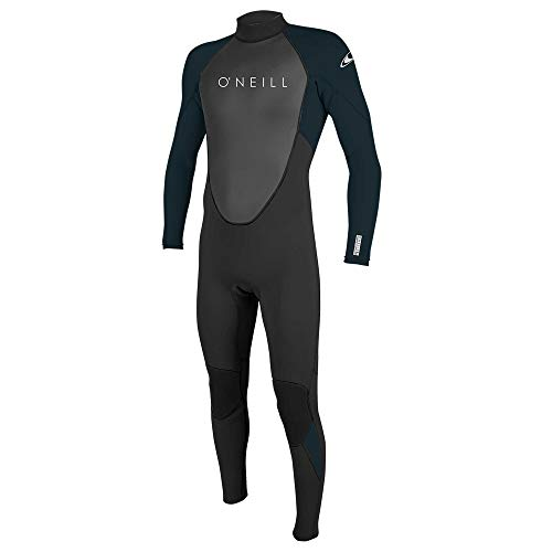 O'Neill Wetsuits Reactor-2 3/2mm Back Zip Full Wetsuit Traje húmedo, Hombre, Negro/Abismo, L