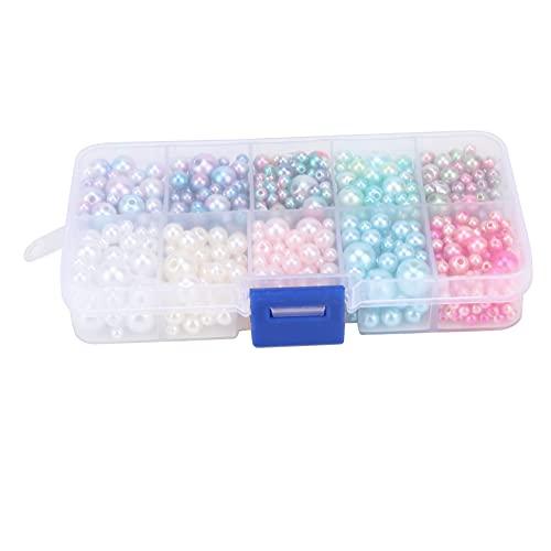 Aoutecen Abalorio de Perlas de imitación Multicolor Hecho a Mano para Hacer Joyas de Bricolaje artesanías Pulsera Collares Hechos a Mano