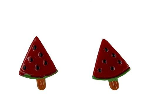 Ohrringe Ohrstecker Stecker Kunststoff Wassermelone Eis Melone am Stiehl 6391
