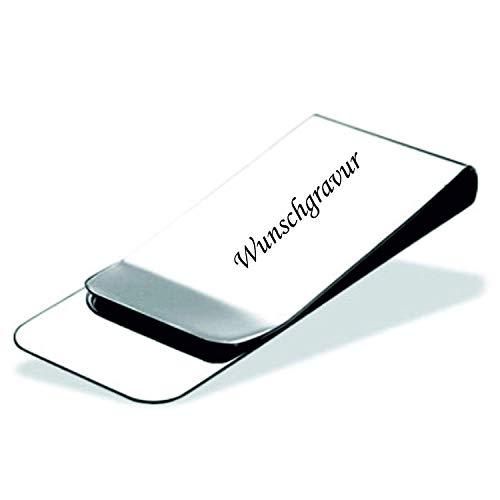 Schmalz® Geldklammer - aus Edelstahl - inklusive Gravur und hochwertiger Geschenkverpackung - für Damen und Herren - selbst online Personalisieren - Money Clip - Geldscheinklammer