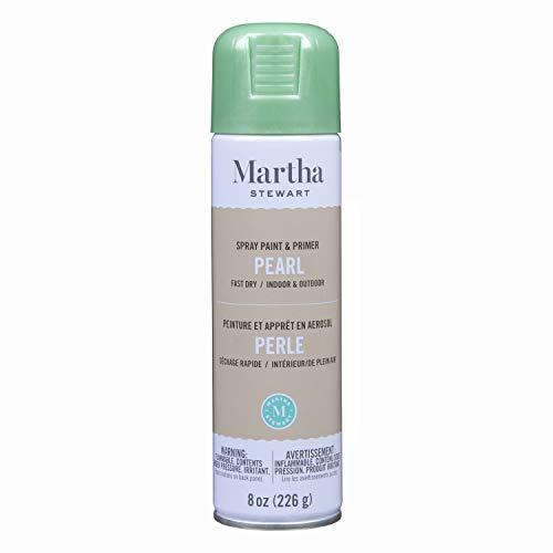 Martha Stewart Paint & Primer 8oz Spray Paint, Pearl Mint Chip 8 Ounce