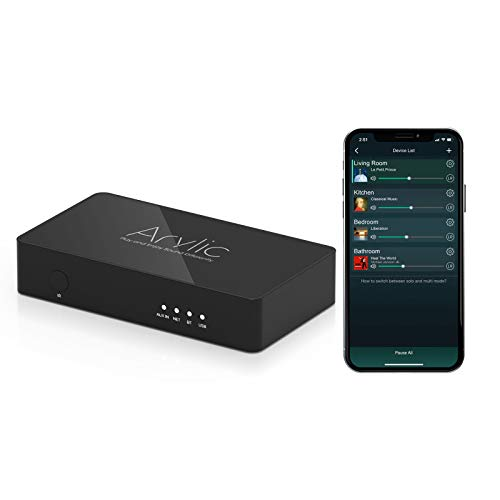 WiFi & Bluetooth 5.0 preamplifier/Audio Receiver, Wireless multiroom/multizone Home Stereo Music Receiver Circuit Module with Airplay,Spotify Connect and Remote Control for DIY Speakers-Up2stream S10