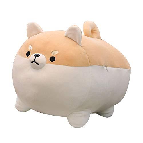 OUKEYI Peluche de animal Shiba Inu de peluche para perro de Anime Corgi Kawaii, almohada suave de felpa de Plushies Shiba Inu de peluche de peluche, almohada de muñeca de perro, regalo de(40,64 cm)