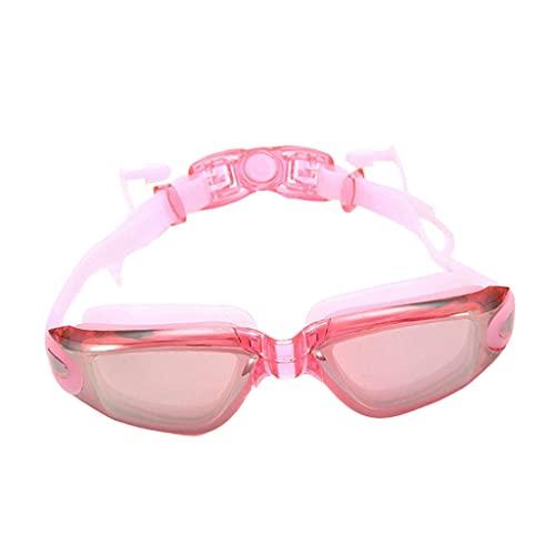 SM SunniMix Gafas de natación para PC cómodas con Tapones para los oídos Gafas Protectoras polarizadas Máscaras Gafas de Agua para Nadar Esnórquel al Aire Libre - Rosa