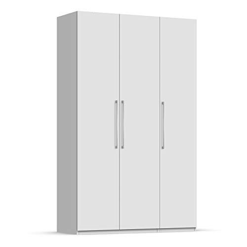 Unniq Armario ropero 3 Puertas batientes - 249x127x59 cm - Blanco
