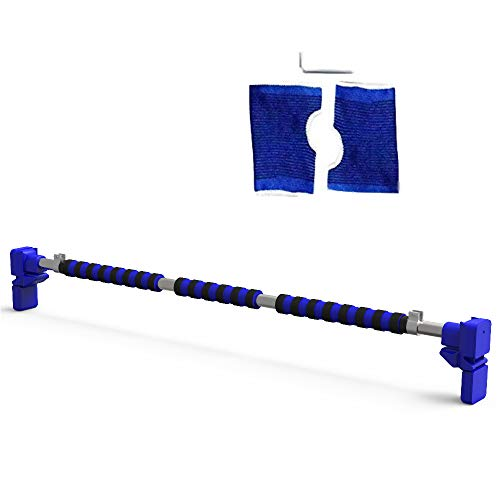 JEMPET Klimmzugstange, Tür, Klimmzugstange, Trainingsstange, verstellbare Breite 70-90 cm, maximale Tragkraft: 150 kg, Keine Löcher nötig.