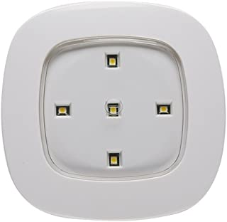 Light It! By Fulcrum, LED Wireless Ceiling Light, Remote Control Compatible, Battery Operated, White