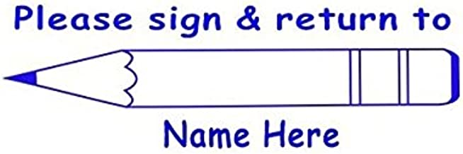 Cosco 2000 Plus Printer 30 Please sign & return to - Blue Teachers Self Inking Custom stamp