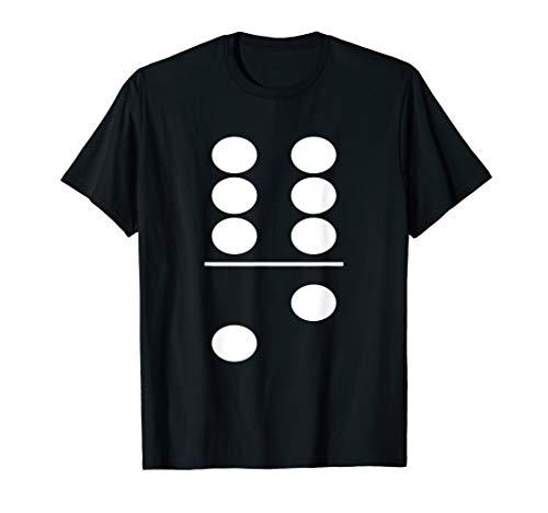 Dominostein Kostüm Dominosteine Spiel 6 zu 2 Karneval T-Shirt