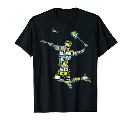 Badminton Shirt: Player Geschenk Team Fan Worte T-Shirt