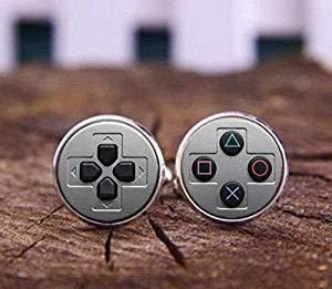 Manschettenknöpfe mit Videospiel-Controller, Geeker-Manschettenknöpfe, Gamepad-Tasten für Männer, personalisierbare Manschettenknöpfe