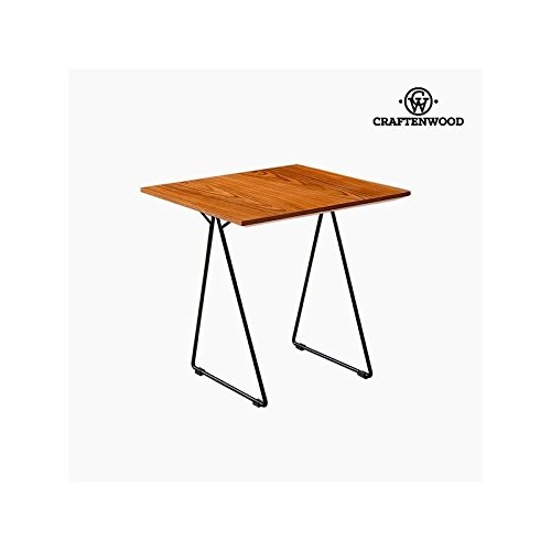Mesa Auxiliar Nogal Mdf (55 x 55 x 55 cm) by Craftenwood