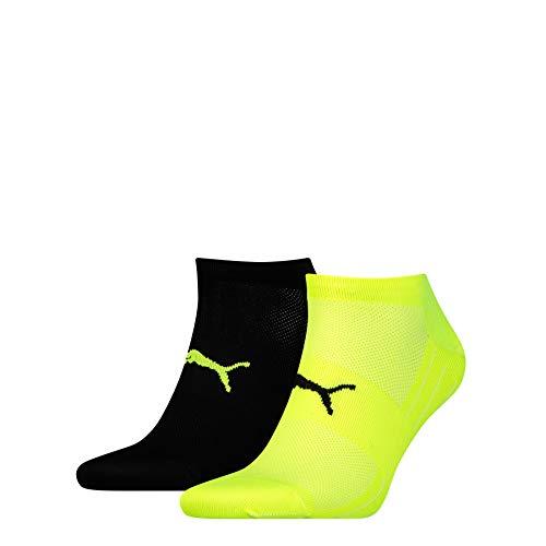 PUMA Herren Performance Train Light Sneaker 2p Sportsocken, Grau (Black/Grey/Yellow 385), 43/46 (Herstellergröße: 043)